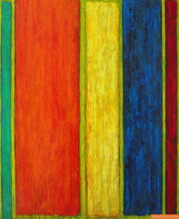 Large Painting by Bill Pangburn; 80″h, 65″w