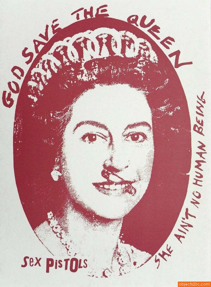 "Jamie Reid ""God Save The Queen"" Print, 1997"