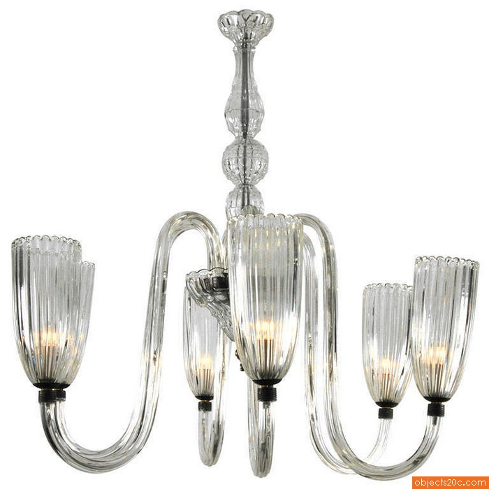 Murano Chandelier, Manner of Barovier & Toso, 1950
