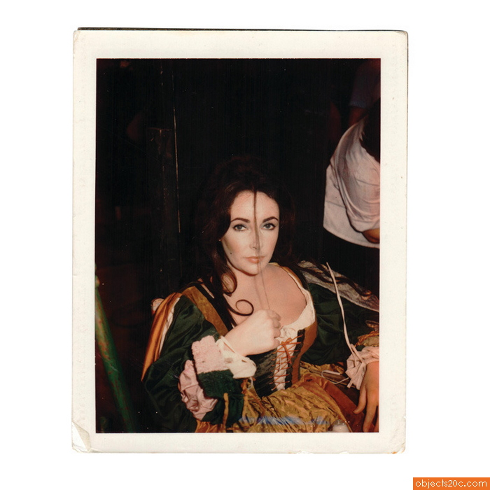 Polaroid of Elizabeth Taylor, Tiziani Archives, 1965
