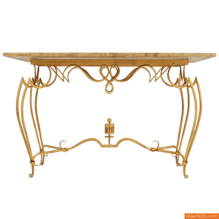 Rare Rene Drouet French Console/Sofa Table
