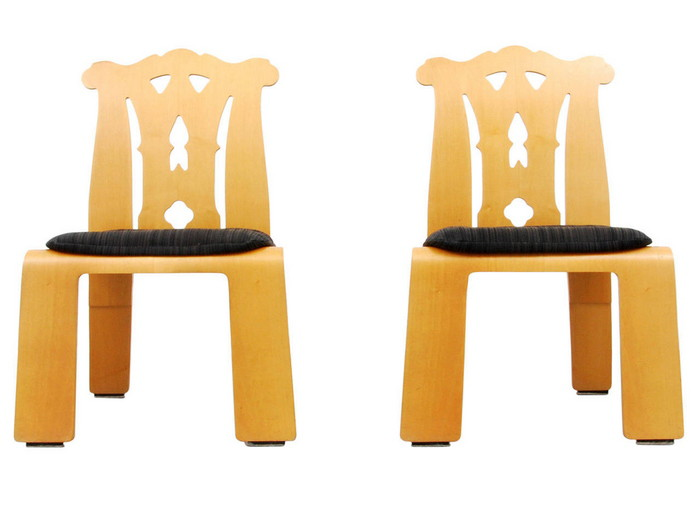 "Pair of Robert Venturi ""Chippendale"" Chairs, 1984 - Objects20c"