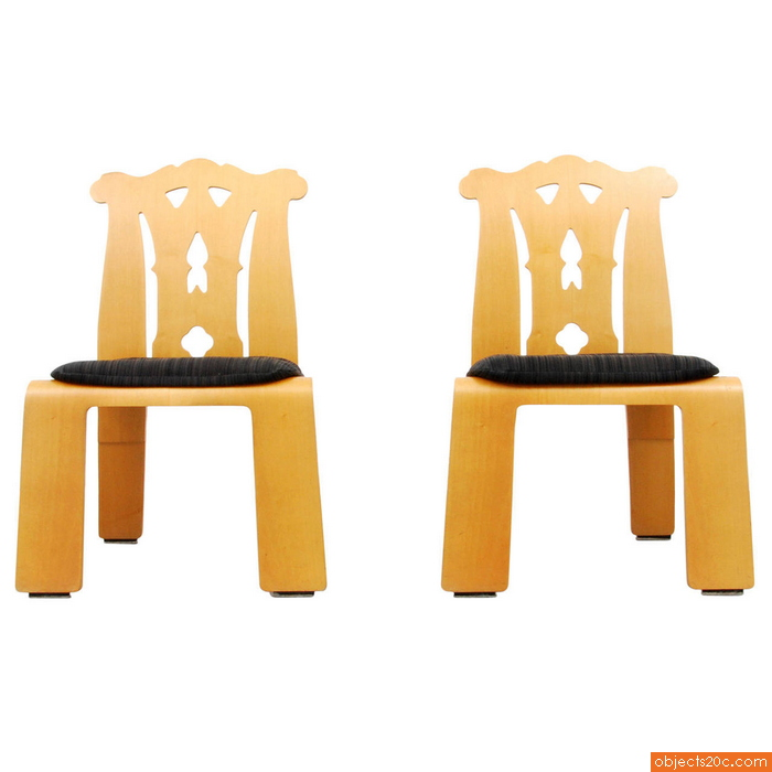 "Pair of Robert Venturi ""Chippendale"" Chairs, 1984"