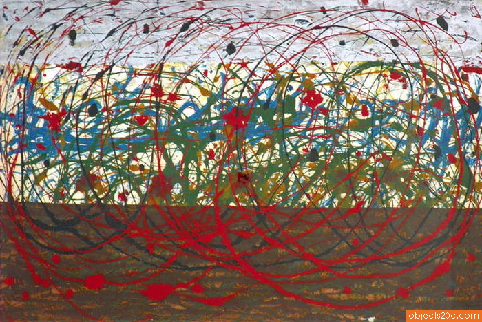 Abstract Painting by Tancredi, Original Work, 1955