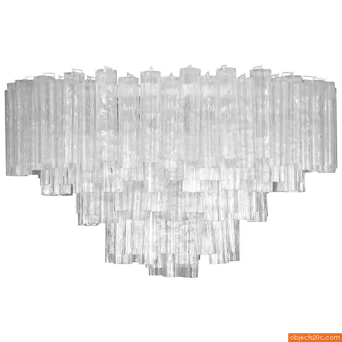 Monumental Camer Glass Chandelier, 1970