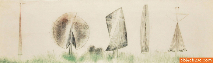 Large Harry Bertoia Monoprint