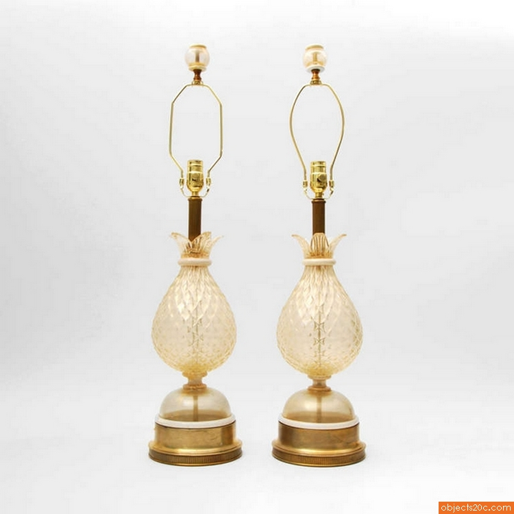 Pair of Blown Glass Lamps Attributed to Barovier & Toso