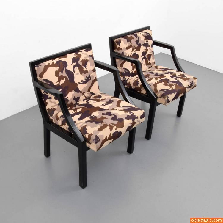 Pair of chairs by edward wormley for dunbar objects20c - Edward wormley chairs ...