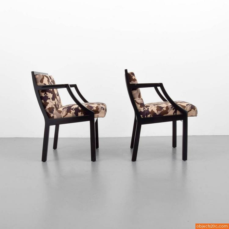 Pair of chairs by edward wormley for dunbar objects20c gallery - Edward wormley chairs ...