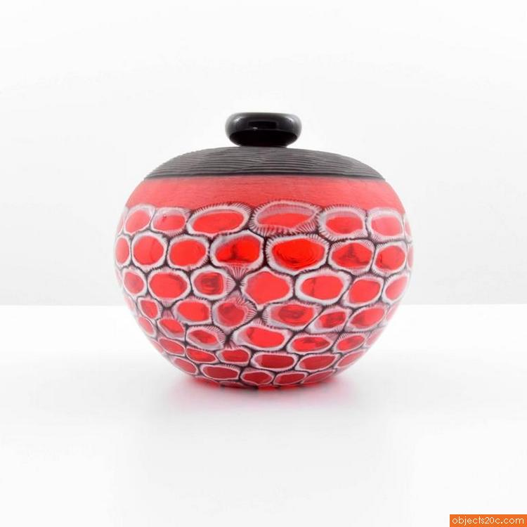 Davide Salvadore Vase Red Black1