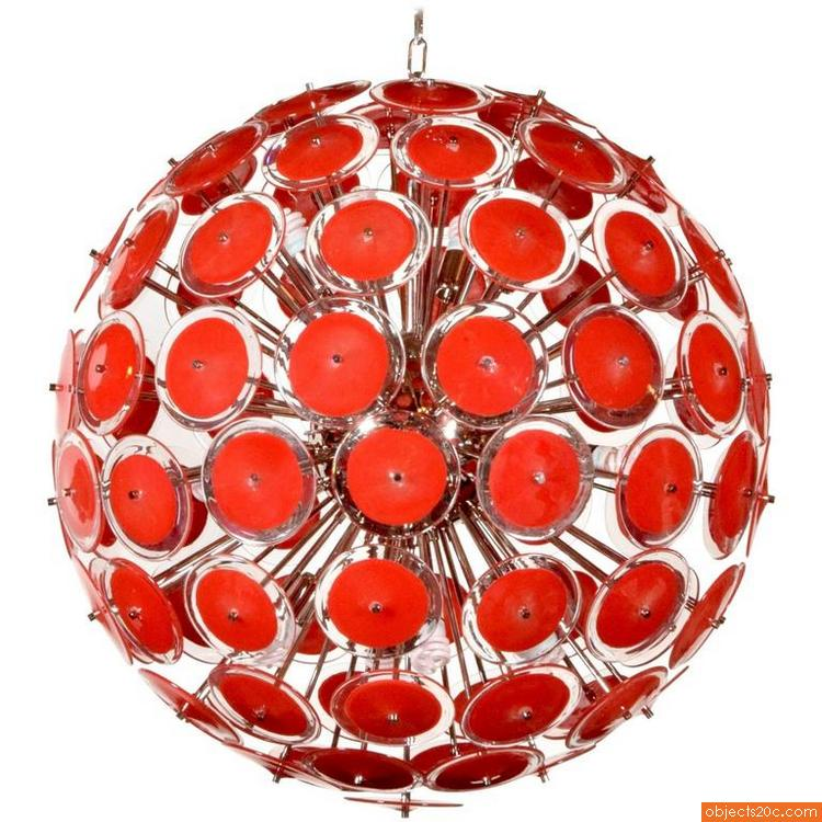 Massive Murano Chandelier Red1