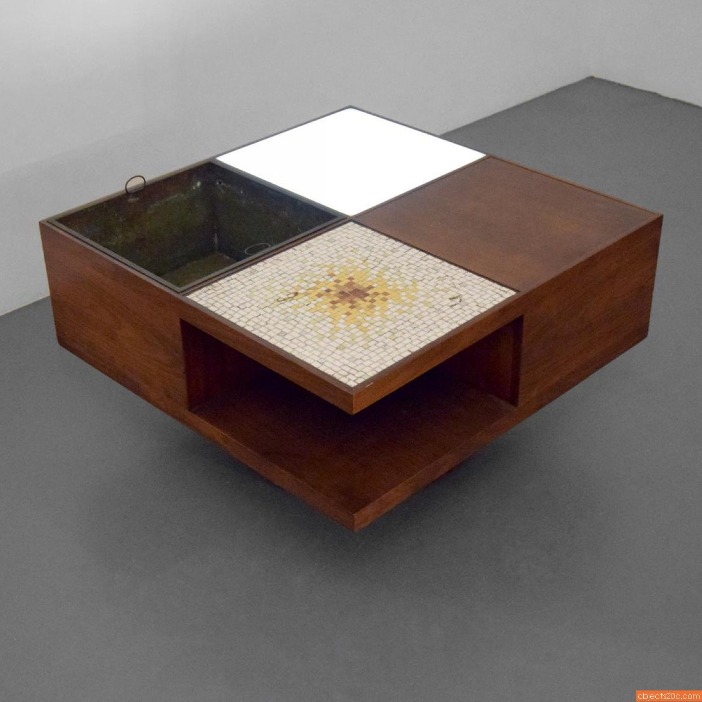 Vladimir Kagan Lighted Coffee Table Model 440 Objects20c