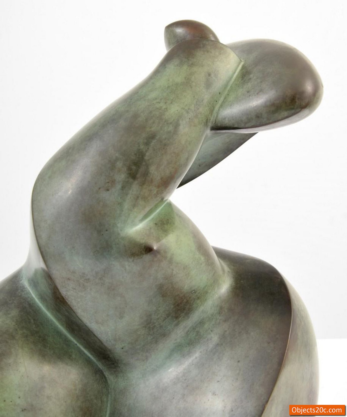 Large Dominique Polles Abstract Bronze Sculpture Objects20c