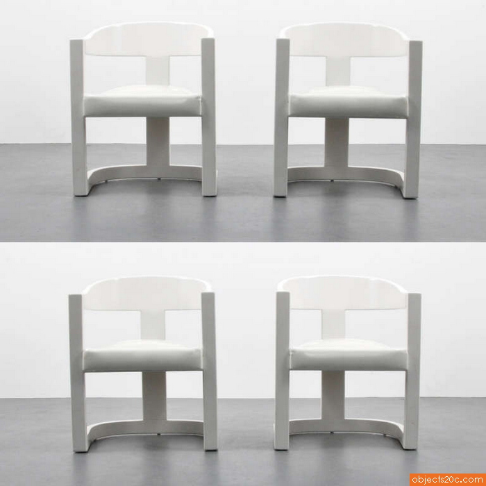 Karl Springer U201cOnassisu201d Armchairs/Dining Chairs, Set Of Four