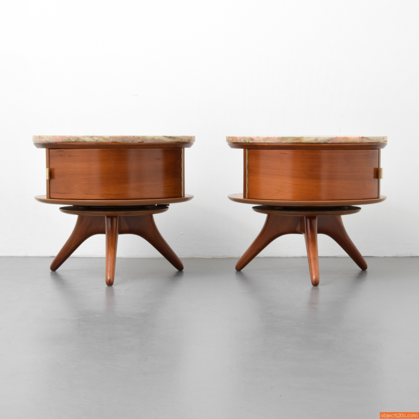 Pair Of Rare U0026 Early Vladimir Kagan #3421 Nightstands/End Tables (SOLD)