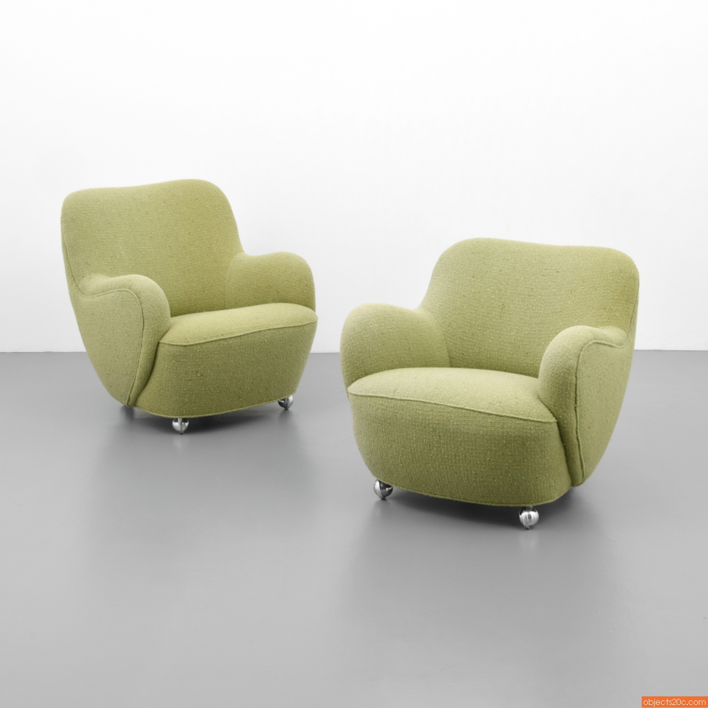 Pair Of Rare Vladimir Kagan U201cBarrelu201d Lounge Chairs (SOLD)